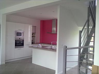 travauxtranquil ouverture entre une cuisine et un s jour. Black Bedroom Furniture Sets. Home Design Ideas