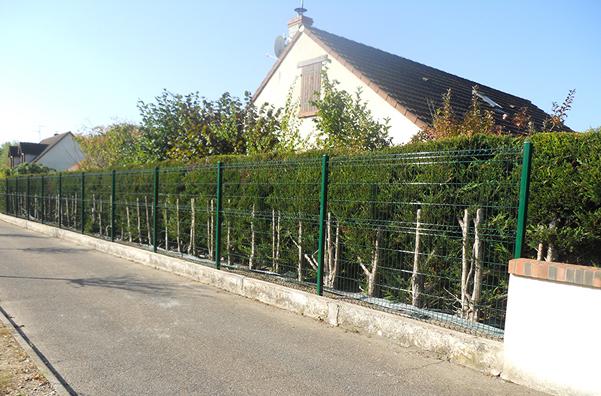 Courtier en travaux : remplacement d'une clôture à Saint-Pryvé-Saint-Mesmin, avec Travaux Tranquil
